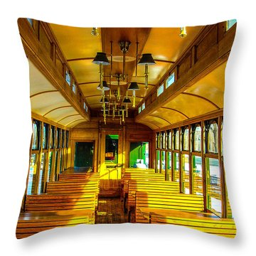 Throw Pillow featuring the photograph Dining Car by Shannon Harrington