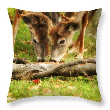 Dining Together Throw Pillow by Karol Livote