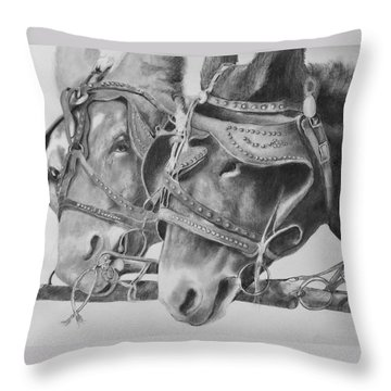 Dink And Donk Throw Pillow