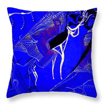 Throw Pillow featuring the painting Dinka Marriage by Gloria Ssali