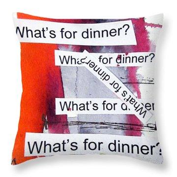 Dinner Throw Pillow