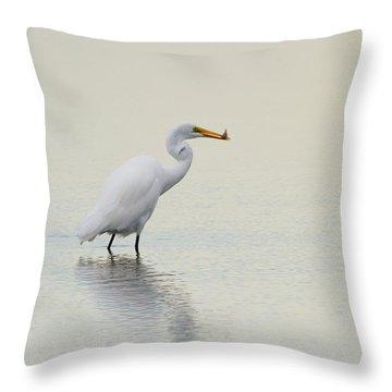 Dinner To Go Throw Pillow by Karol Livote