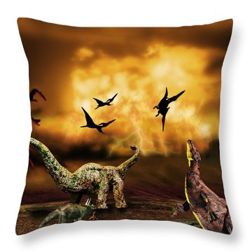 Saltasaurus Throw Pillows