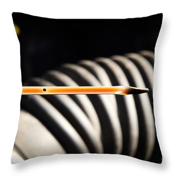 Dipstick Throw Pillow by Photo Researchers