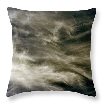 Throw Pillow featuring the photograph Dirty Clouds by Clayton Bruster