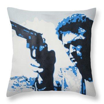 Dirty Harry Throw Pillow by Luis Ludzska