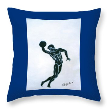 Disc Thrower Throw Pillow