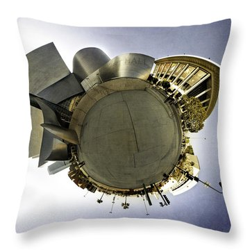 Disney Concert Hall In Downtown Los Angeles Throw Pillow