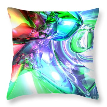 Disorderly Color Abstract Throw Pillow by Alexander Butler