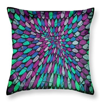 Disperse Color Tones Throw Pillow by Ankeeta Bansal