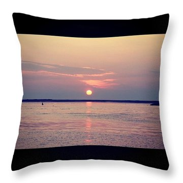 Distant Sunrise  Throw Pillow by Justin Connor