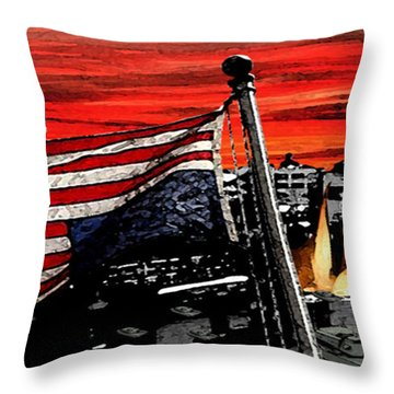 Distress Throw Pillow by Monday Beam