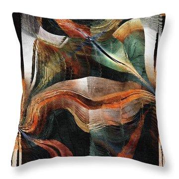Throw Pillow featuring the digital art Disturbed by Kim Redd