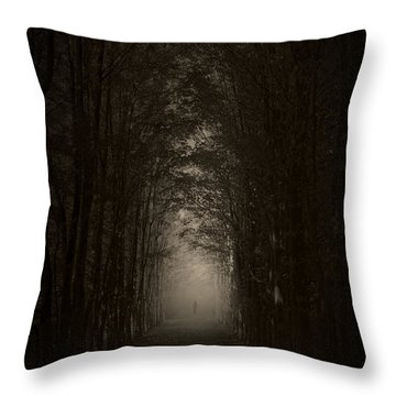 Disturbing Beauty Throw Pillow by Lourry Legarde