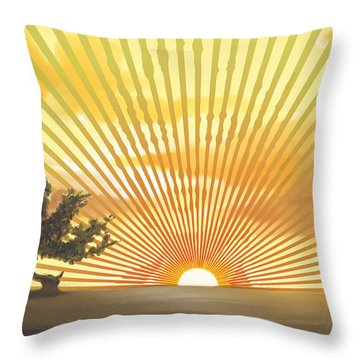 Diva's Sunset Throw Pillow