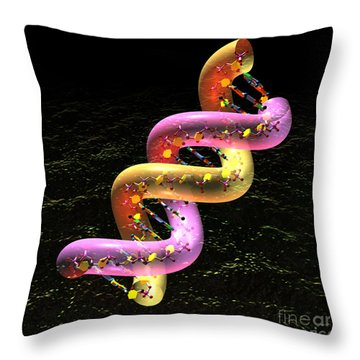 Dna Fat Coil Throw Pillow