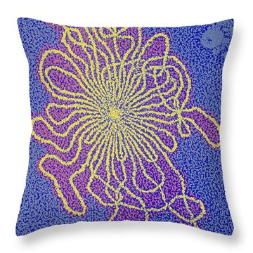 Dna From A Lambda Bacteriophage Throw Pillow by Omikron