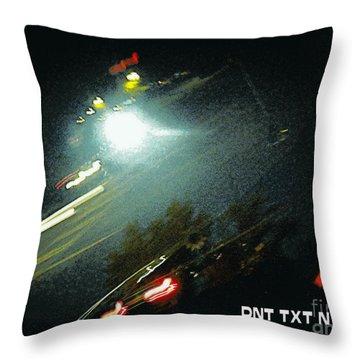Dnt Txt N Drv Throw Pillow by Renee Trenholm