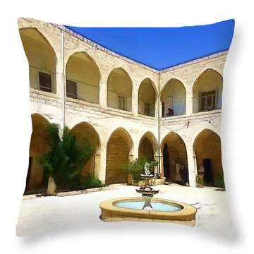 Throw Pillow featuring the photograph Do-00494 Inside Court Saidet El-nourieh by Digital Oil
