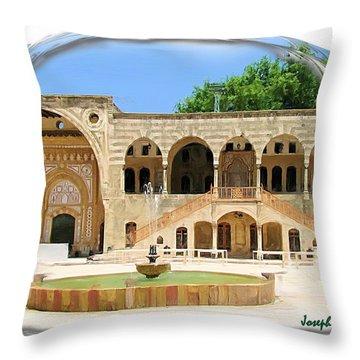 Throw Pillow featuring the photograph Do-00522 Emir Bechir Palace by Digital Oil