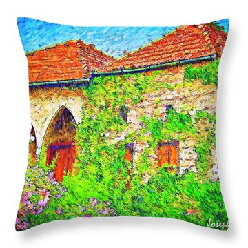 Throw Pillow featuring the photograph Do-00530 Old House by Digital Oil