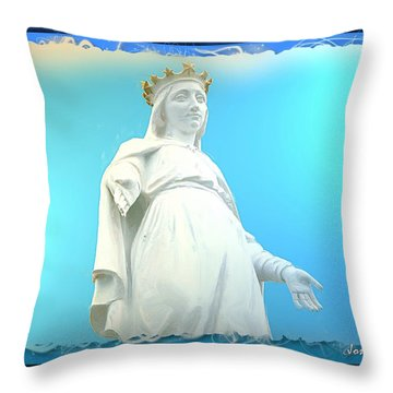 Do-00531 Our Lady Of Lebanon Throw Pillow