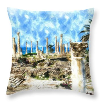 Do-00550 Ruins And Columns Throw Pillow