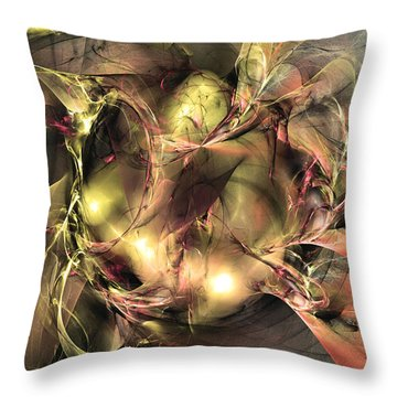 Do Not Touch -abstract Art Throw Pillow