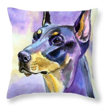 Doberman Pinscher Throw Pillows