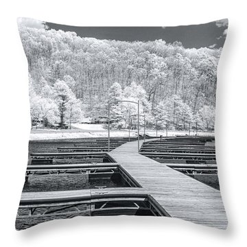 Throw Pillow featuring the photograph Dock In Infrared by Mary Almond