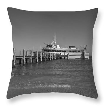 Docking For A Moment Throw Pillow by Betsy Knapp