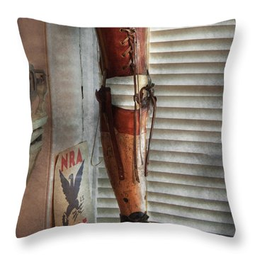 Doctor - A Leg Up In The Competition Throw Pillow by Mike Savad