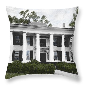 Dodd House Georgia Plantation Throw Pillow by Lianne Schneider