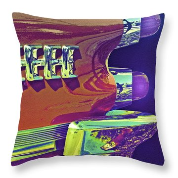 Dodge Custom Royal Throw Pillow by Gwyn Newcombe
