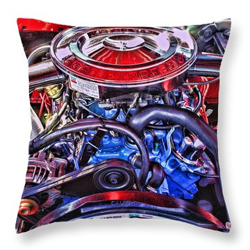 Dodge Motor Hdr Throw Pillow by Randy Harris