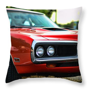 Dodge Super Bee Classic Red Throw Pillow by Paul Ward