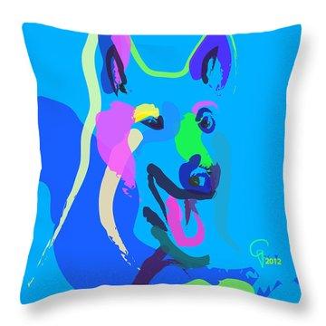 Dog - Colour Dog Throw Pillow