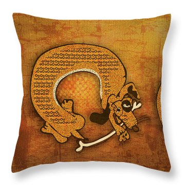 Dog Dreams Throw Pillow by Laura Brightwood