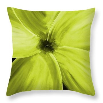 Dogwood Bloom Yellow Throw Pillow by Mark Moore