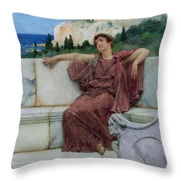 Dolce Far Niente Throw Pillow by Sir Lawrence Alma-Tadema