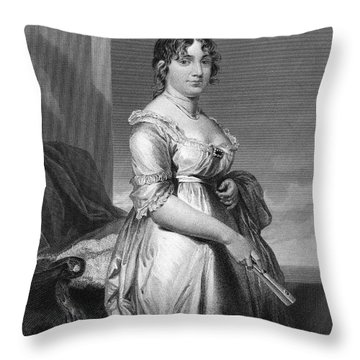 Dolley Payne Todd Madison Throw Pillow by Granger