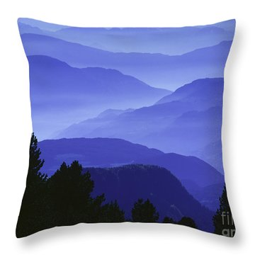 Dolomites Landscape Throw Pillow by Hermann Eisenbeiss and Photo Researchers