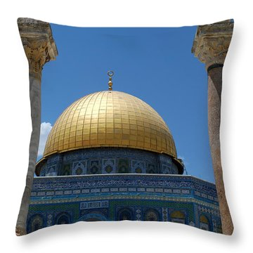 Throw Pillow featuring the photograph Dome Of The Rock  by Eva Kaufman