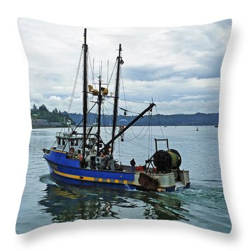 Done For The Day Throw Pillow by Methune Hively