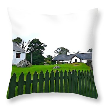 Throw Pillow featuring the photograph Donegal Home by Charlie and Norma Brock