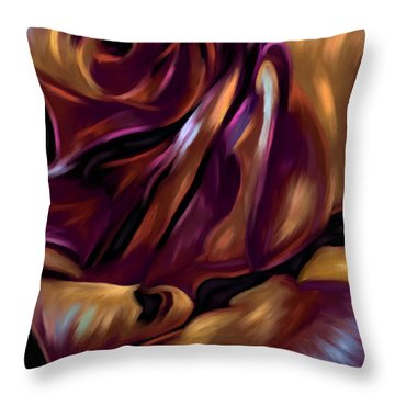 Donnybrook Rose Throw Pillow by Michelle Wrighton