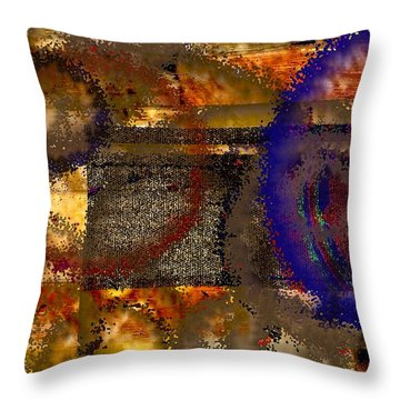 Don't Be A Square Throw Pillow by Renate Nadi Wesley