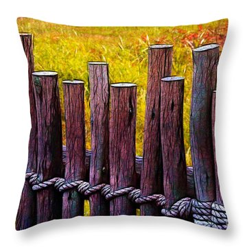 Don't Fence Me In Throw Pillow by Judi Bagwell