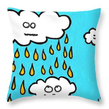 Don't Pee On Me Throw Pillow by Jera Sky