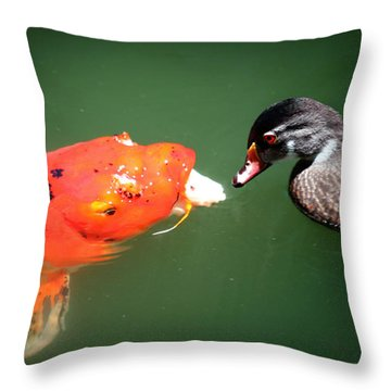 Don't Play Coy With Me Throw Pillow by Lon Casler Bixby